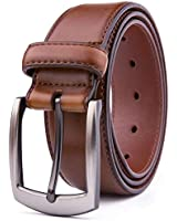 Men Genuine Leather Belts, Fashion & Classic Design for Casual and Dress (36, Cognac #2)