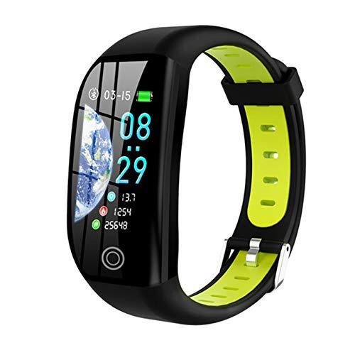 AKY Pulsera Inteligente F21, Macho Y Femenino Fitness Monitor De Ritmo Cardíaco Rastreador De Actividades De Salud Pedómetro Pedómetro IP68 Reloj Inteligente Impermeable para Android iOS,C
