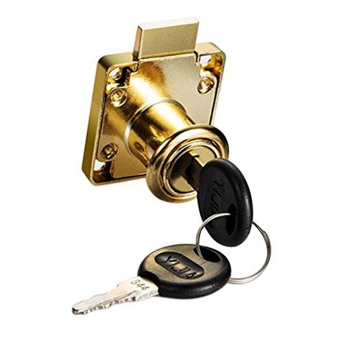joyMerit 22 / 32mm Mini Lock Aktenschrank Mailbox Desk Drawer Schrank Locker + 2 Schlüssel - Gold 22mm