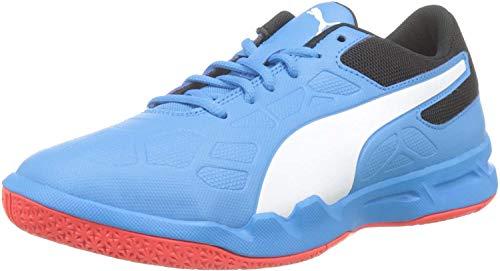 PUMA Tenaz Jr, Zapatos Futsal Unisex Niños, Bleu