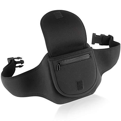 Étui de Rangement pour Lecteur CD Portable de avec Ceinture - Noir - pour l'exercice, la randonnée ou Le vélo