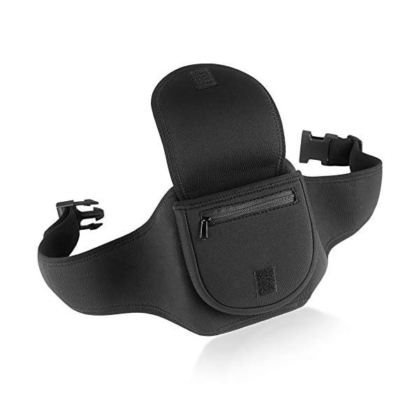 Portable CD Player Holder Case with Belt - Black - for Exercise, Hiking or Biking