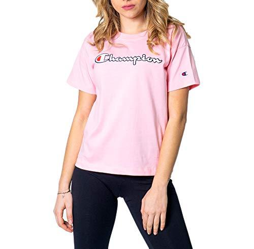 T-shirt Damen CHAMPION girocollo logo color 112650 s pink