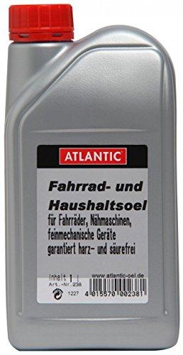 Atlantic Fahrrad- und Haushalts-Öl 238 U, Silber, 1 L