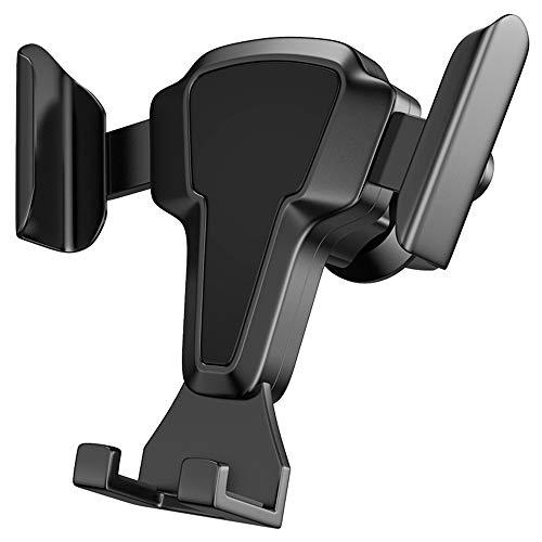 TreeLeaff Soporte Movil Coche [2 en 1], Soporte Móvil Teléfono para Salida de Ventilación del Coche con de Montaje para 360 Grados Rotación con iPhone 12/12 Pro/11/X/8, Samsung, Xiaomi y Más