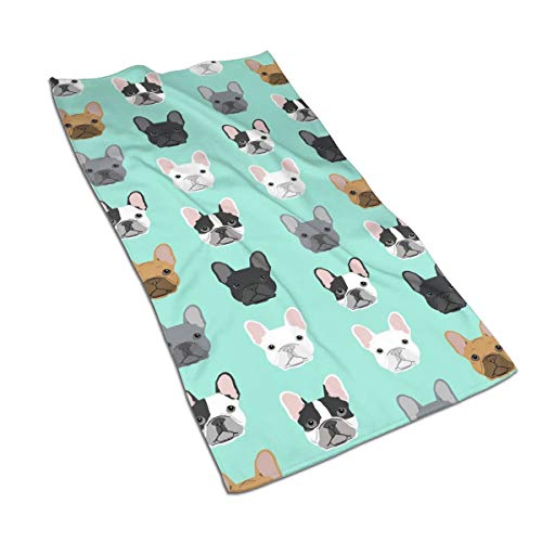 French Bulldog Sweet Dog Puppy Puppies Dog Kitchen Towels ¨C 17.5X27.5in Microfiber Terry Dish Towels for Drying Dishes and Blotting Spills ¨CDish Towels for Your Kitchen Decor