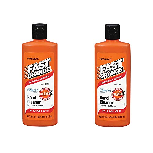 Permatex Fast Orange Fine Pumice Lotion Hand Cleaner - 7.5 Fluid Ounce (2 Pack)