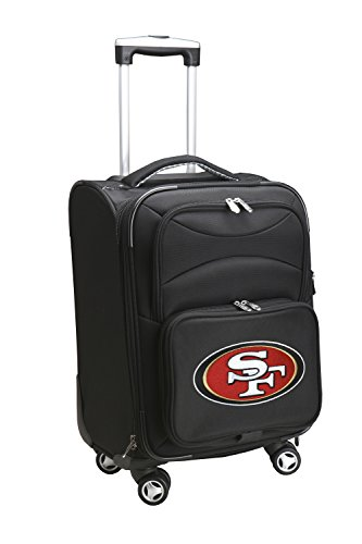 Denco NFL San Francisco 49ers Domestic Carry-On Spinner, 20-Inch, Black