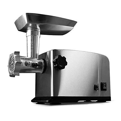WZLJW Haushalt und Gewerbe Edelstahl Kleinen Fleischwolf Fleisch Twisted-Stopfmaschine automatische Multifunktions 800 Watt -mit (Farbe: Edelstahl) ggsm (Color : Stainless Steel)