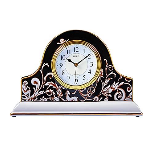 XGJJ Reloj de Mesa Cerámica Art Deco Country Decoración Decoración Estante Mesa de Noche Decoración Mesa Reloj Mantel Reloj
