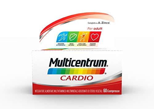Multicentrum Cardio Integratore Alimentare Multivitaminico, Un Aiuto Per Il Colesterolo E Il Benessere Del Cuore, Senza Glutine E Zuccheri, 60 Compresse - 120 g