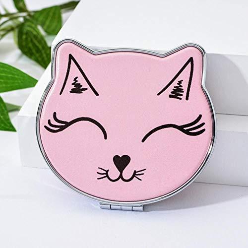 LASISZ Mini Miroir de Poche Cat Element Cartoon Double Side Pocket Mirrors Girls Cute Makeup Organizer Cosmetic Make Up Accessories, 1