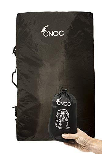 CNOC 2in1 Backpack Schutzhülle & Transportsack für Trekkingrucksäcke 70L Plus - passend für alle Hersteller - Rucksack Schützhülle mit Zwei Tragesystemen + Rain Cover für Rücksäcke - schwarz - 404 gr