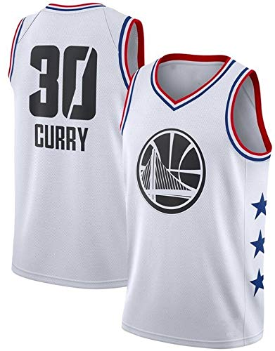 WSUN Camiseta De La NBA para Hombre, Camiseta De La NBA Golden State Warriors 30# Stephen Curry, Camiseta para Fanáticos del Baloncesto NBA Cool and Light Sports,A,L(175~180CM/75~85KG)