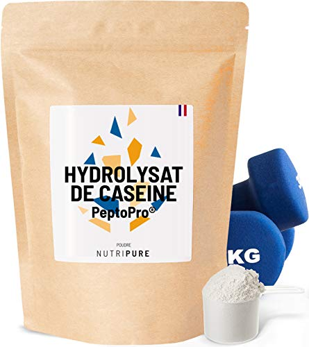 PeptoPro® CASEIN HYDROLYZATE • 80% proteine 34% EAA e 16% BCAA • Bevanda anabolica per l'allenamento • Aumento di massa • Energia e catabolismo anti muscolare lungo sforzo e bodybuilding • NUTRIPURE