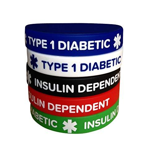 buy  Diabetic Silicone Bracelets Type 1 Insulin ... Diabetes Care