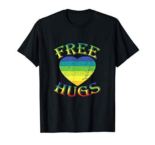 Abrazos gratis Vintage Retro Abrazo Amor Corazn Diversin Camiseta