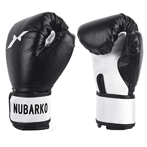 NUBARKO Boxing Gloves,Synthetic Leather Kickboxing Gloves for Sparring, Muay Thai and Heavy Bag.Bag Gloves Suitable for Men and Women,Suitable for Home Gym