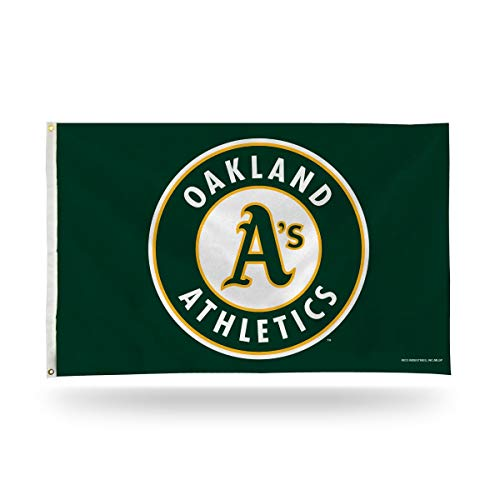 Oakland Athletics A's New Round Logo Rico 3x5 Flag w/grommets Outdoor House Banner Baseball Maryland
