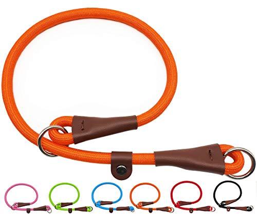 MayPaw Collare a strozzo in corda di nylon per addestramento del cane - Collare per cani con martingala tondo senza tirare per cani di taglia piccola e media