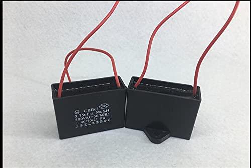 Condensatore Motore CBB61 3.75/4 / 4,5/4.75 / 5UF 4UF 500V Ventilatori Condizionatore d'aria Mahjong Cappuccio Inizio condensatore 2 pezzo 1 lotto (Capacitance : 3.75UF 500V)
