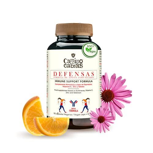 Vitamina C, Zinc, Selenio & Equinacea – Vitaminas para el cansancio – Defensas para el estrés y cambios estacionales – Fortalece el sistema Inmune – Antioxidante - 100% Natural - Vegano - 90 cápsulas
