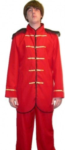 Pams Sgt. Peppers Red Beatles Fancy Dress Costume