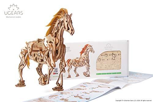 UGEARS Caballo Mecánico - Puzzle 3D para Niños y Adultos