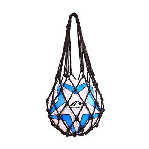 VORCOOL Bolso de Malla de Malla de fútbol con una Sola Bola para Transportar baloncestos de fútbol de Voleibol (Negro)