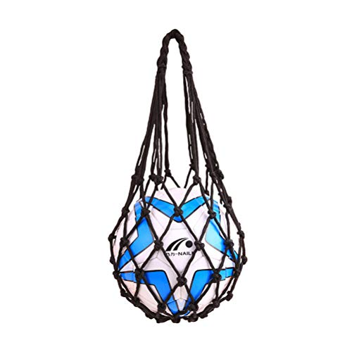 VORCOOL Sports Mesh Equipment Bag Volleyball Basketball Football Soccer Storage Net Bag Ball Carry Mesh for Single Ball (Black)