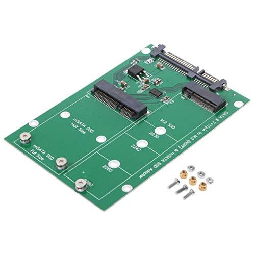 M.2 NGFF/mSATA SSD naar SATA III Converter Adapterkaart Mini PCI-e NGFF B Sleutel mSATA Connector Notebook PC SSD
