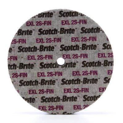 4-Pk 3M Scotch-Brite 15831 EXL Unitized Wheel 6 Inch X 1/2 Inch X 5/8 Inch 2S FIN // 7100106744