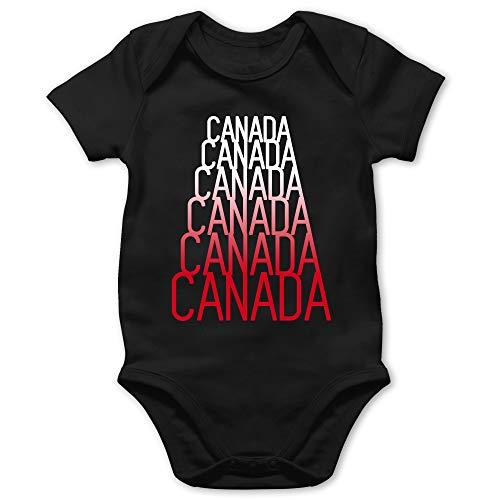 Städte & Länder Baby - Canada Fan Shirt - 18/24 Monate - Schwarz - Kanada - BZ10 - Baby Body Kurzarm für Jungen und Mädchen