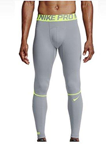 Nike Herren M NP Pro Hyperwarm TGHT Trainings-Tights, Wolfgrau/Volt, S