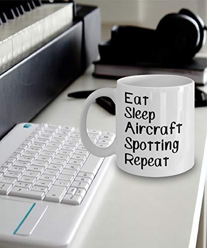 Vliegtuigen Spotting Mok 15oz Eet Slaap Vliegtuigen Spotting Herhaal Mok 15oz Gift voor Vliegtuigen Spotter Vliegtuigen Spotting Mok 15ozs