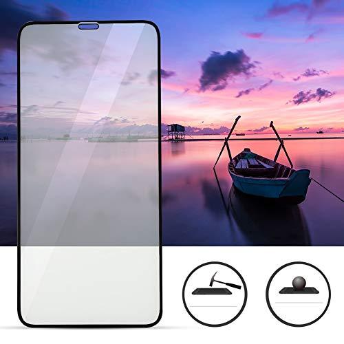 Gsm-schermbeschermer, materiaal Waterdicht ABS 2.5D Volledige dekking Telefoon gehard beschermfolie voor iPhone XR (zwarte HD)