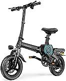 RDJM Bici electrica Bicicleta eléctrica, bicicletas plegables eléctricos con 400W 48V de 14 pulgadas, 10-25 AH de iones de litio E-Bici for el recorrido de ciclo de trabajo fuera y los desplazamientos