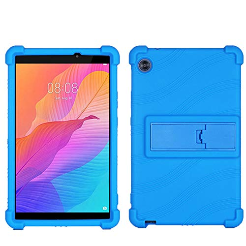 QYiD Galaxy Tab A 8.0 Case 2019 SM-T290/T295, Light Weight Silicone Kids Friendly Soft Shock Proof Protective Cover Case for 8.0 inch Galaxy Tab A 2019 Without S Pen SM-T290 SM-T295, Blue
