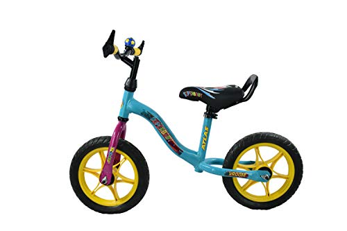 Atlas Vroom Superbaby 12 Inches Single Speed Bike for Kids of Age 2-5 Yrs ( Sky Blue )
