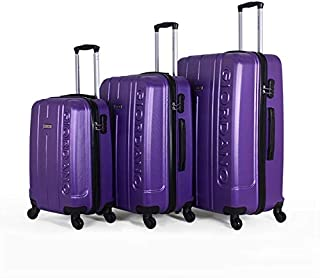 جيوردانو طقم حقائب سفر بعجلات, 3 قطع مع 4 عجلات, ارجواني - 826325