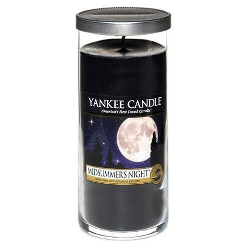 Yankee Candle vela de pilar grande, Noche de verano, negro