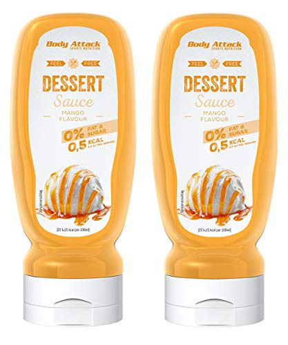 Body Attack Dessert Sauce - Vegan und Low Carb - (Mango, 2 x 320 ml)