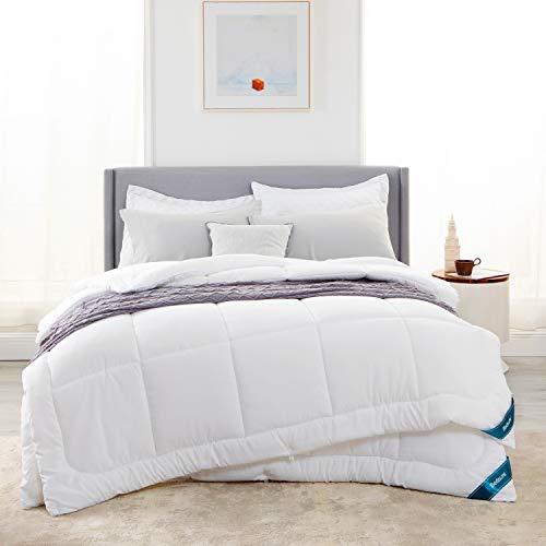 Bedsure Bettdecke 135x200 cm 300GSM+150GSM 4 Jahreszeiten, Oeko-Test Zertifiziert Atmungsaktive Schlafdecke, Super Weiche Kuschelige Steppdecke