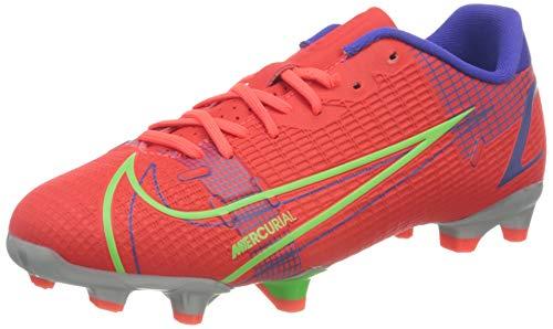 Nike JR Vapor 14 Academy FG/MG, Scarpe da Calcio, BRT Crimson/Mtlc Silver-Indigo Burst-White-Rage Green, 36 EU