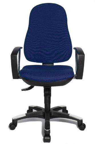 Topstar 9020AG26, Trend SY 10, Bürostuhl, Schreibtischstuhl, ergonomisch, mit Armlehnen, Bezugsstoff blau