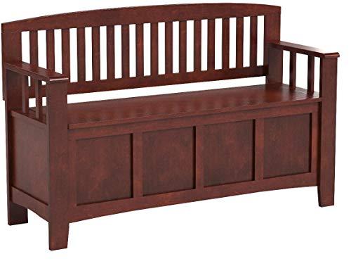 "Product Image 20: Linon Home Dcor Linon Home Decor Cynthia Storage Bench, 50""w x 17.25″d x 32″h, Walnut"