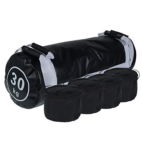 Your's Bath Sac de Sable Musculation,Sac Lesté Crossfit 30kg,Sand Bag Power Bag avec Poignées Réglable pour Entraînement de Musculation Fitness Exercise (sans Sable) (30KG)