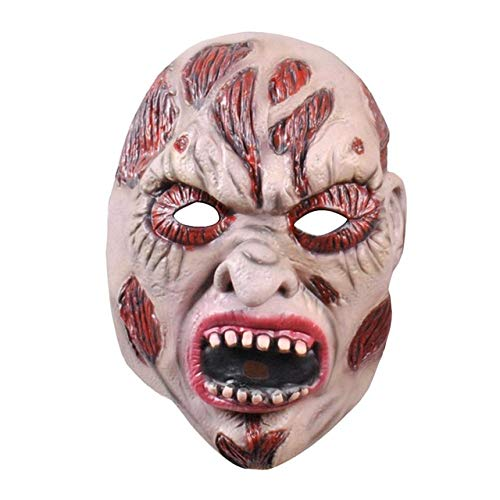 JNKDSGF Horror maskTerrified Halloween Party Terror Ghost Realistische Siliconen Maskers Carnaval Ghost Gezicht Latex Masker
