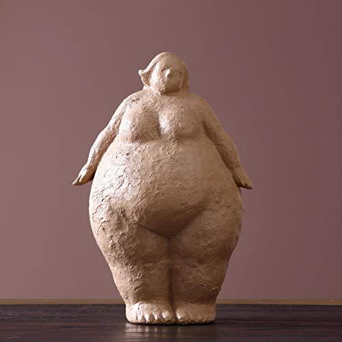 XiaoHeJD Arte Abstracto Mujer Gorda Decoración Personaje Resina Artesanía Hogar Sala de Estar Dormitorio Decoración