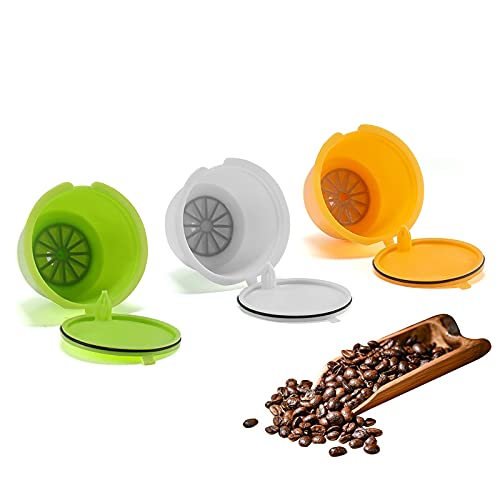 Capsulas Dolce Gusto Recargables, SUNJULY 3PCS Filtros reutilizables Compatibles Para Illy Cafetera para Nescafé Genio...